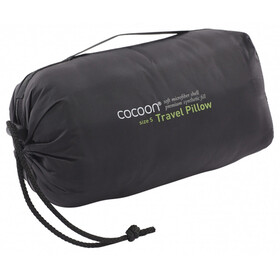 Cocoon Travel Pillow - Microfiber/Nylon Shell Synthetic Fill Medium gris/noir